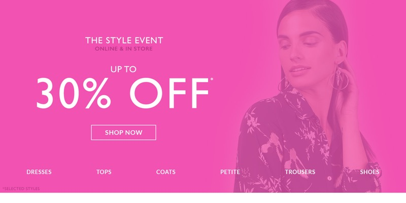 Wallis Wallis: up to 30% off women's clothing and shoes