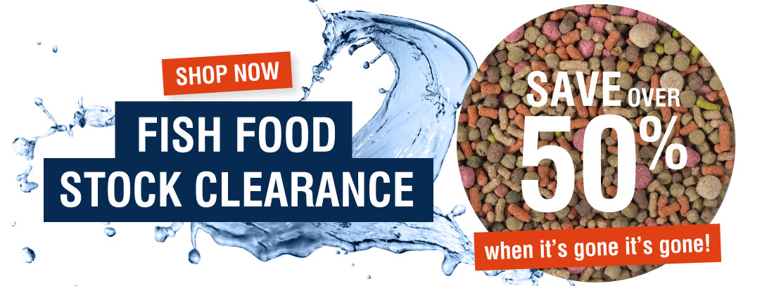 Warehouse Aquatics Warehouse Aquatics: Sale 50% off fish food