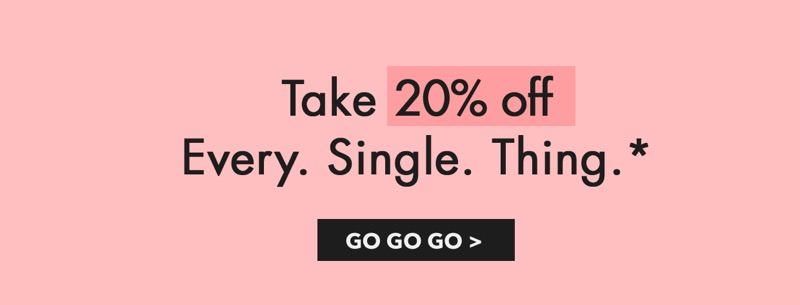 WearAll: 20% off every single thing
