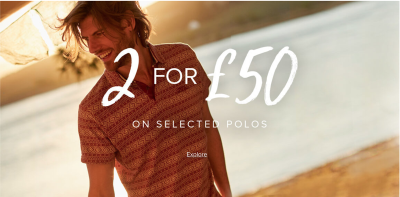 Weird Fish Weird Fish: 2 for £50 on selected polos