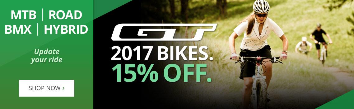 Wheelies Wheelies: 15% off GT Bikes - MTB, Road, BMX, Hybrid