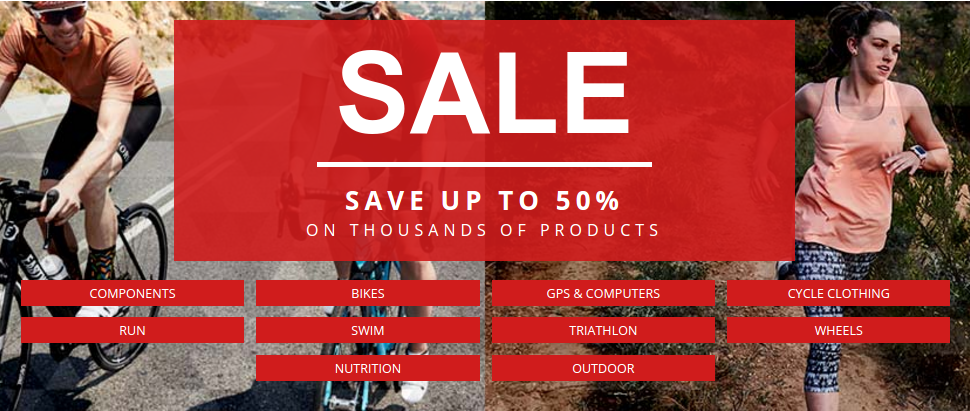 Wiggle Online Cycle Shop: Sale up to 50% off on thousands of products