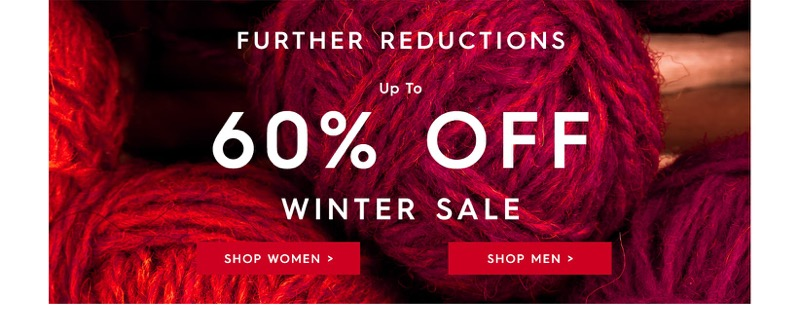 Woolovers Woolovers: Winter Sale up to 60% off cashmere, wool and cotton knitwear, jumpers, cardigans and sweaters