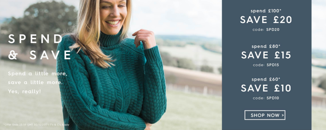 Woolovers Woolovers: up to £20 off cashmere, wool and cotton clothing