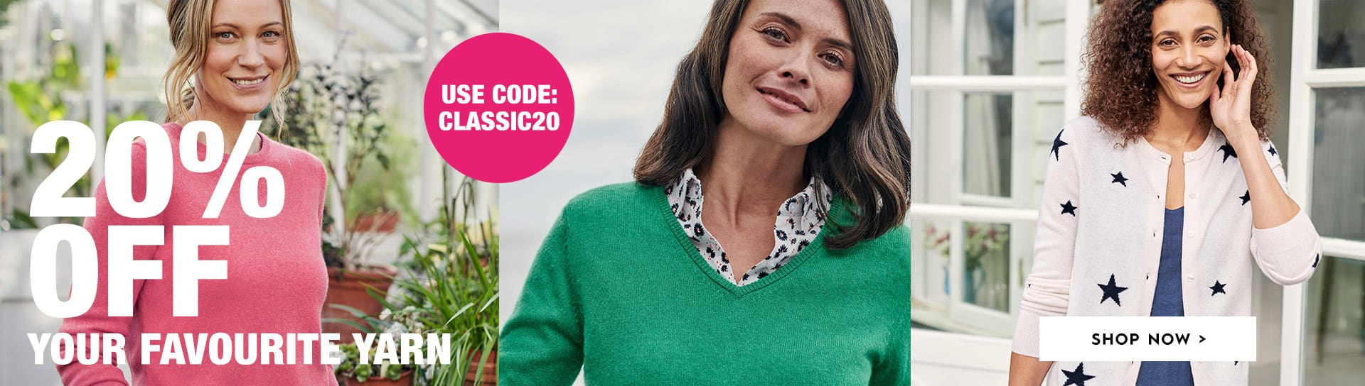 Woolovers: 20% off cashmere & merino fashion