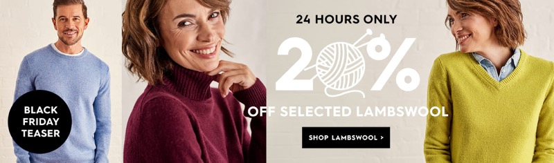 Woolovers: 20% off selected lambswool