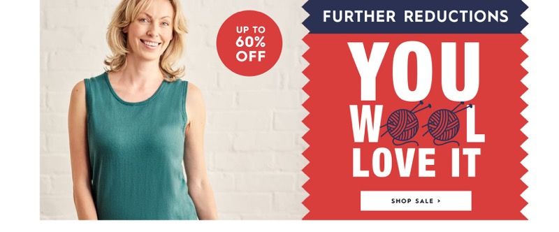 Woolovers Woolovers: Sale up to 60% off womens and mens knitwear