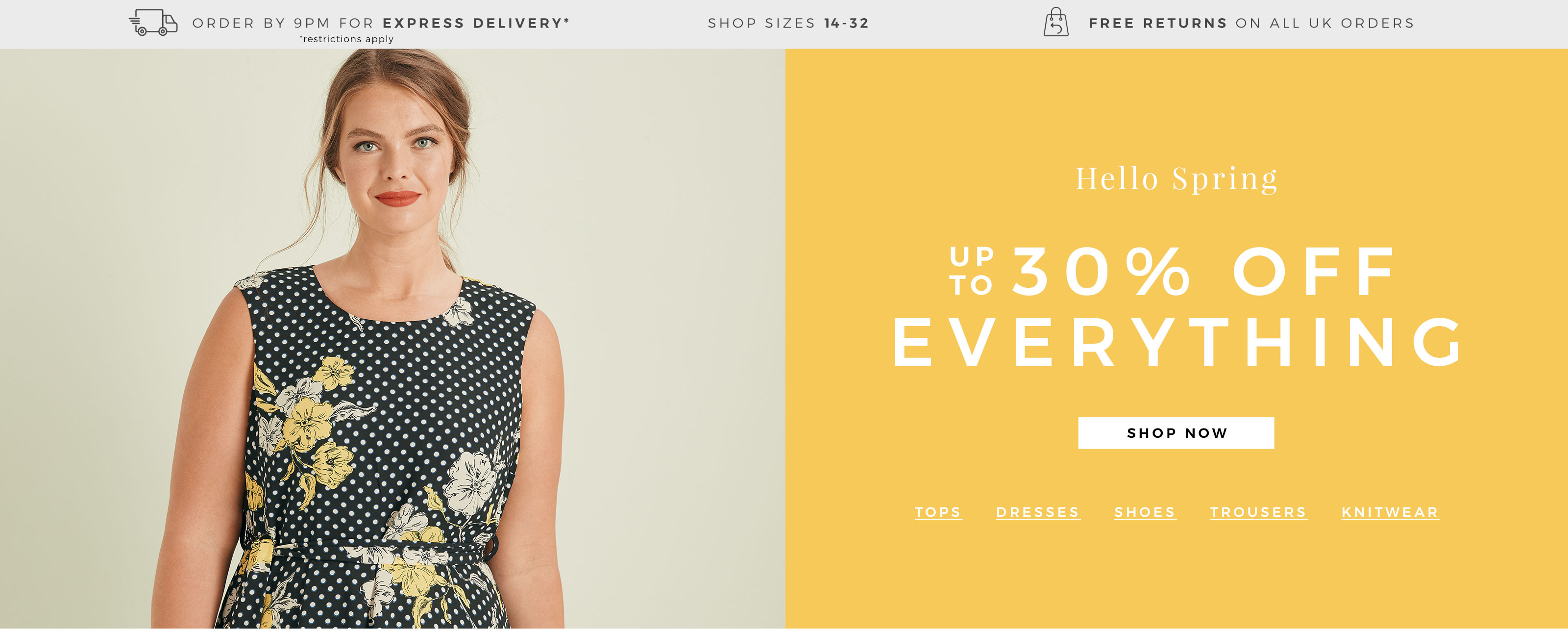 Evans Clothing Evans Clothing: up to 30% off plus size clothing
