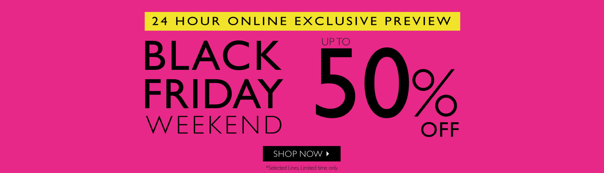 Black Friday Apricot: up to 50% off