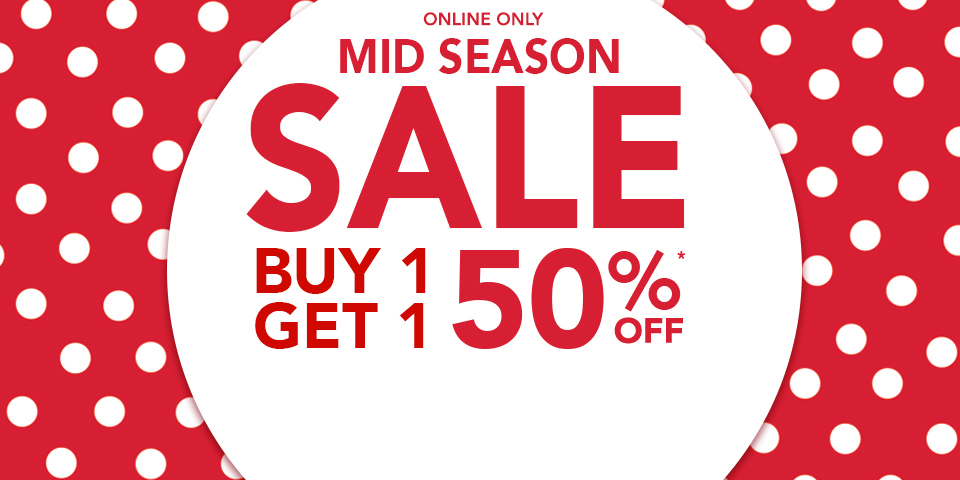 Claire's: Buy 1 get 1 50% off