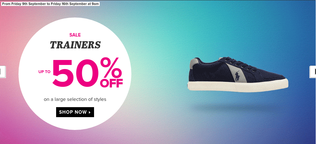 Sarenza: Sale up to 50% off trainers