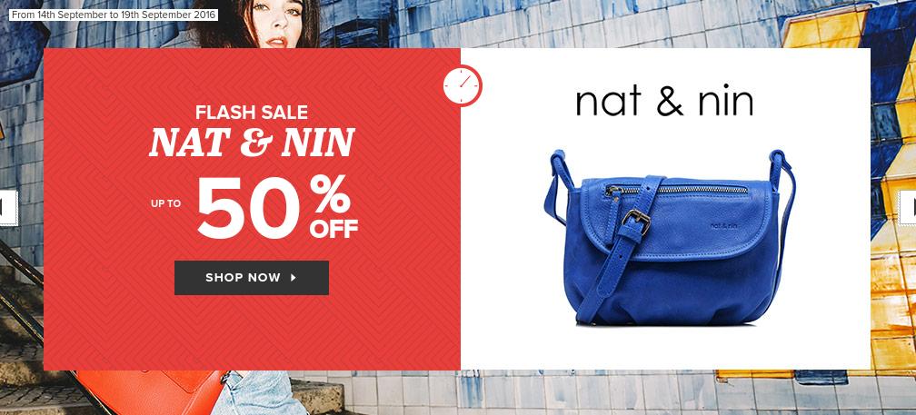Sarenza: Sale up to 50% off Nat&Nin bags