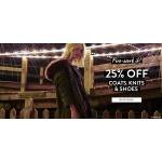 BooHoo: 25% off coats, knits & shoes