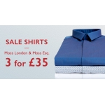 Moss Bros: 3 shirts for £35