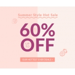 Rosegal: Sale up to 60% off range of ladies clothing, shoes, bags and accessories