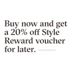 Aldo Shoes: 20% off Style Reward voucher for later