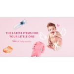 AliExpress: 10% off baby supplies