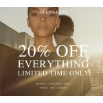 AllSaints: 20% off women's clothing, footwear and accessories