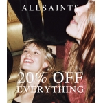 AllSaints: 20% off women's and men's clothing and accessories