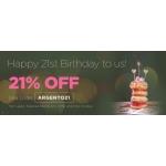 Argento: 21% off jewellery
