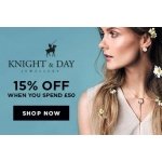 Bella Mia Boutique: 15% off Knight & Day Jewellery