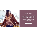 BooHoo: 30% off coats, jackets and knits