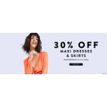 Boohoo: 30% off maxi dresses & skirts