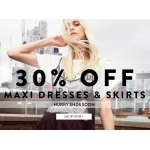 Boohoo: 30% off maxi dresses and skirts
