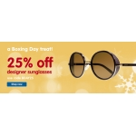 Boots Designer Sunglasses: 25% off designer sunglasses