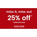 Burton: 25% off men's wardrobe