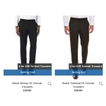 Burton: 2 formal trousers for £35
