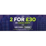 Charles Wilson: 2 for £30 on casual shirts