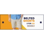 Charles Wilson: 2 for £32 on belted shorts