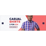 Charles Wilson: 2 for £34 on casual shirts