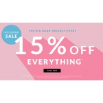 Chi Chi: Bank Holiday Promotion 15% off clothing, shoes, bags and accessories
