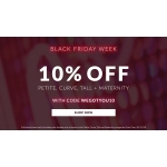 Black Friday Chi Chi: 10% off petite, curve, tall + maternity fashion