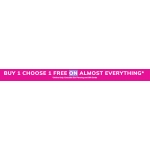 Claire's: buy 1, choose 1 free on almost everything