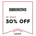 Cloggs: at least 30% off birkenstock shoes