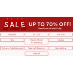 Create and Craft: Sale up to 70% off dies, papercraft and scrapbooking, sewing, foils and more