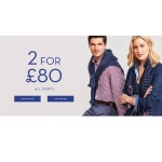 Crew Clothing: 2 for £80 for all shirts