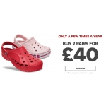 Crocs: buy 2 pairs of Crocs for £40