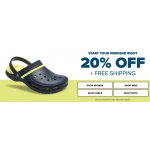 Crocs: 20% off shoes, sandals and clogs