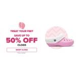 Crocs: Sale up to 50% off clogs