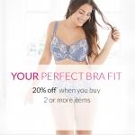 Debenhams: 20% off when you buy 2 or more items