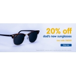 Boots Designer Sunglasses: 20% off dad's new sunglasses