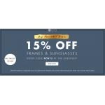 Eye Wear Brands: 15% off frames & sunglasses