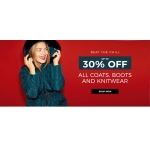 Evans Clothing: 30% off coats, boots and knitwear