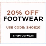 Evans Clothing: 20% off footwear