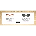 Eyewearbrands.com: 25% off glasses and 20% off sunglasses