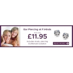 F.Hinds Jewellers: Ear Piercing from only £11.95